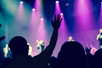 worshiping God in church