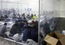 Menores duermen en colchonetas dentro de cápsulas de plástico abarrotadas: así es una instalación en la frontera entre EE.UU. y México