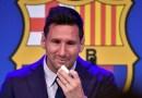 Entre lágrimas, Lionel Messi se despide del FC Barcelona
