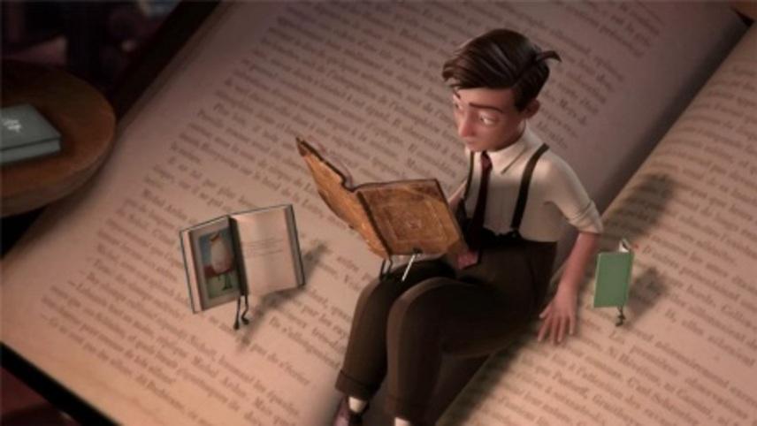 Incrível animação para fazer as crianças se encantarem com o mundo dos livros