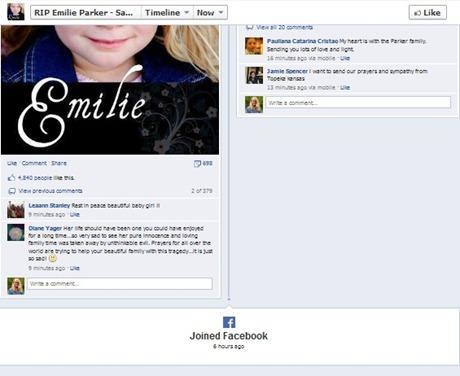 emilie parker fake facebook page