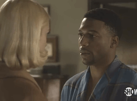 Libby Masters (Caitlin Fitzgerald) and Robert Franklin (Jocko Sims) address their mutual attraction in season 2, episode 12 of Masters of Sex