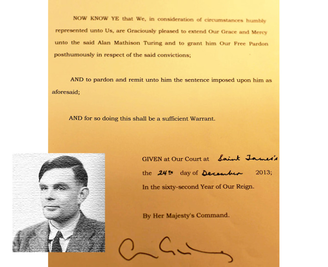 Alan Turing's Royal Pardon (UK Government)