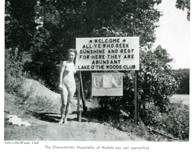 Although frequently censored, nudist imagery emphasized the rural character of the movement while exhibiting young and attractive women who likely still appealed to male readers. The Nudist, 7 November 1936. (Courtesy of the Sunshine and Health Publishing Company.)
