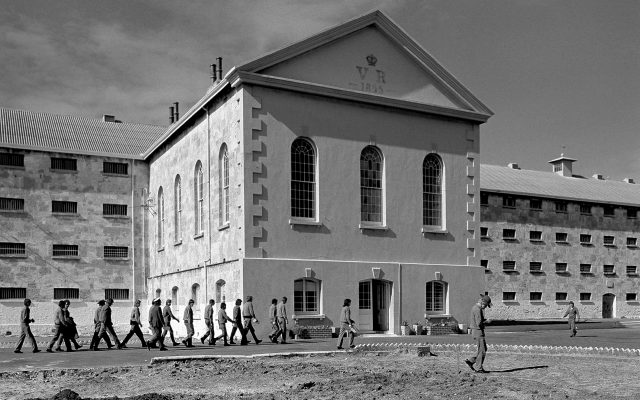 Fremantle Prison photographed in 1971: built by English convicts in the 1850s, it remained in use until 1991.