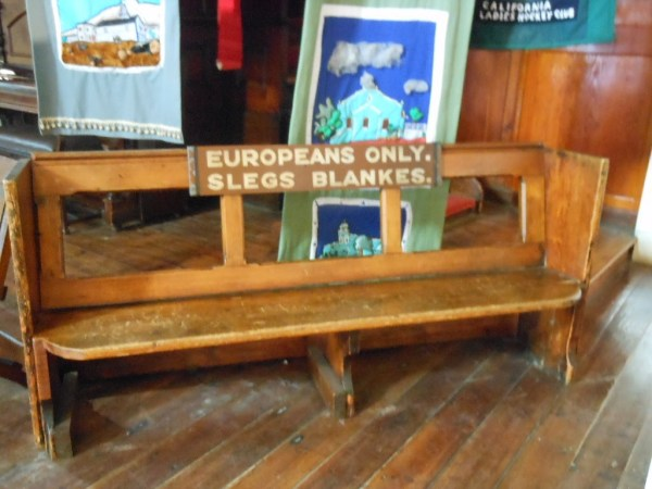 Apartheid Bench