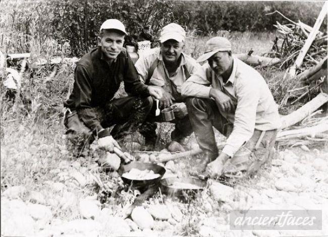 Gilbert Alvord (center) in Wyoming circa 1955. Courtesy of Bette Triscik.