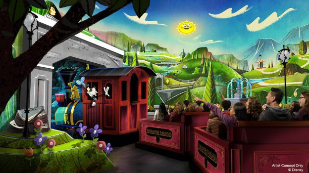 Update: Mickey & Minnie's Runaway Railway. With sneak peak of the queue!