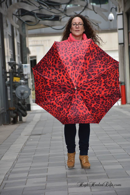 Pasotti Umbrella - open umbrella - path