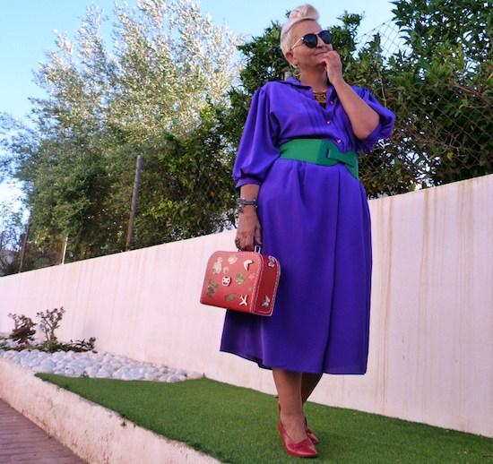 Vintage Purple Shirtdress mis papelicos.-1