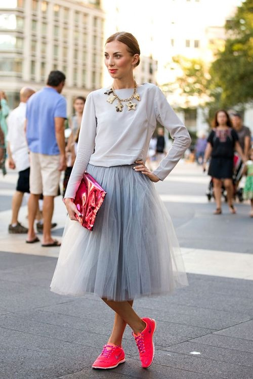 sneakers-street-style-neon-w-tulle-skirt-feb.14-nyc