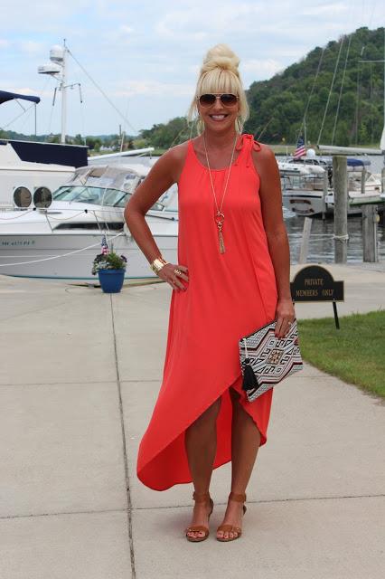 Coral dress3