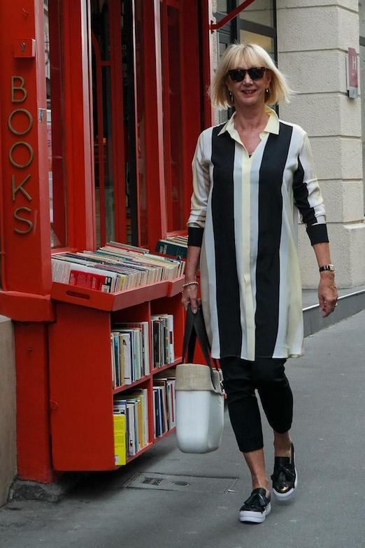 shirt-dress-in-paris-yellow-black-and-white-striped-sportmax
