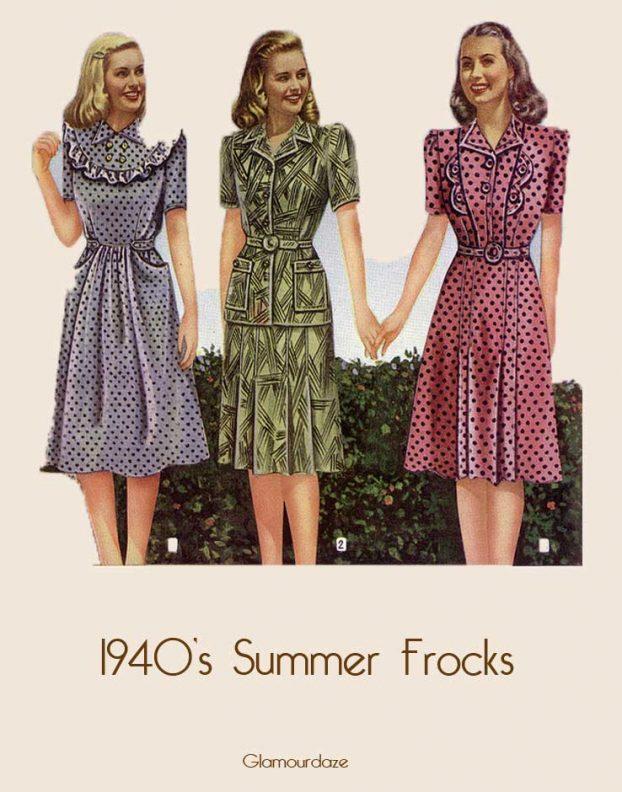 1940's summer dresses