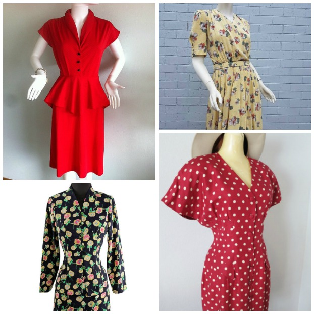 1980s does 1940's dresses