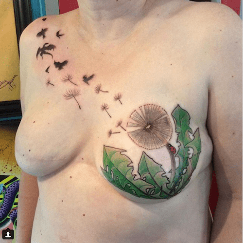 Breast tattoos post mastectomy a compelling slide show for Breast reconstruction tattoos