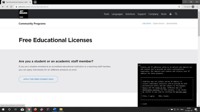 JetBrains Developer Tools for Free