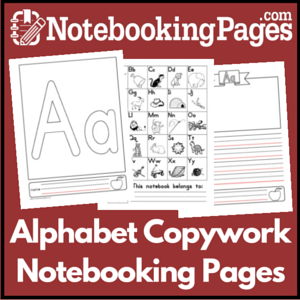 Alphabet Copywork Pages