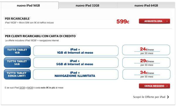 Nuovo iPad con TIM