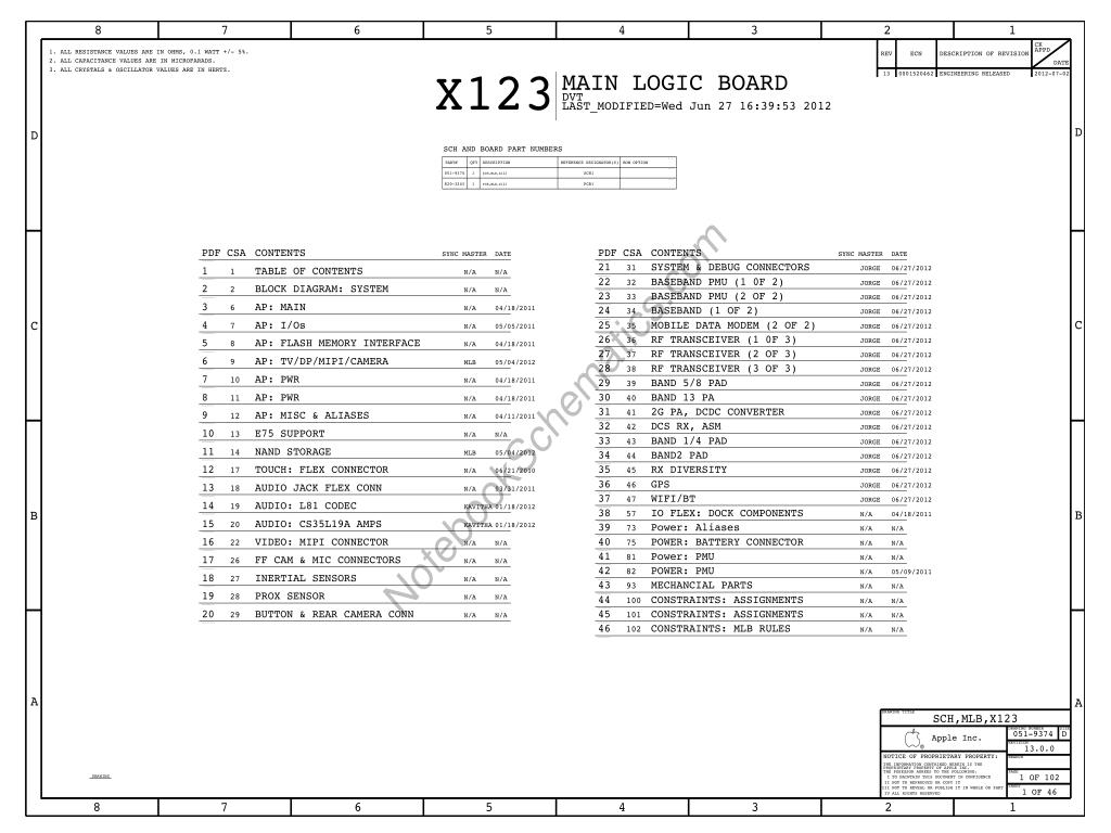 Apple Ipad Mini Schematic 820 X123 Mlb Schematic