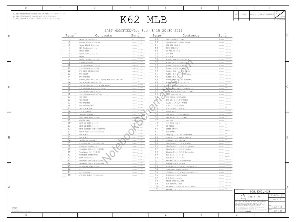 Apple Imac 27 A Schematic 820 Sch K62 Mlb