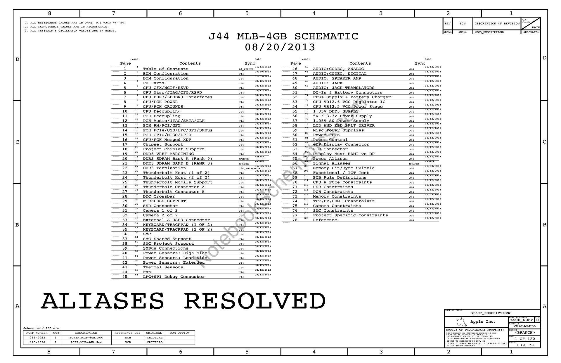 Apple Macbook Pro Retina 13 A Schematic 820 051