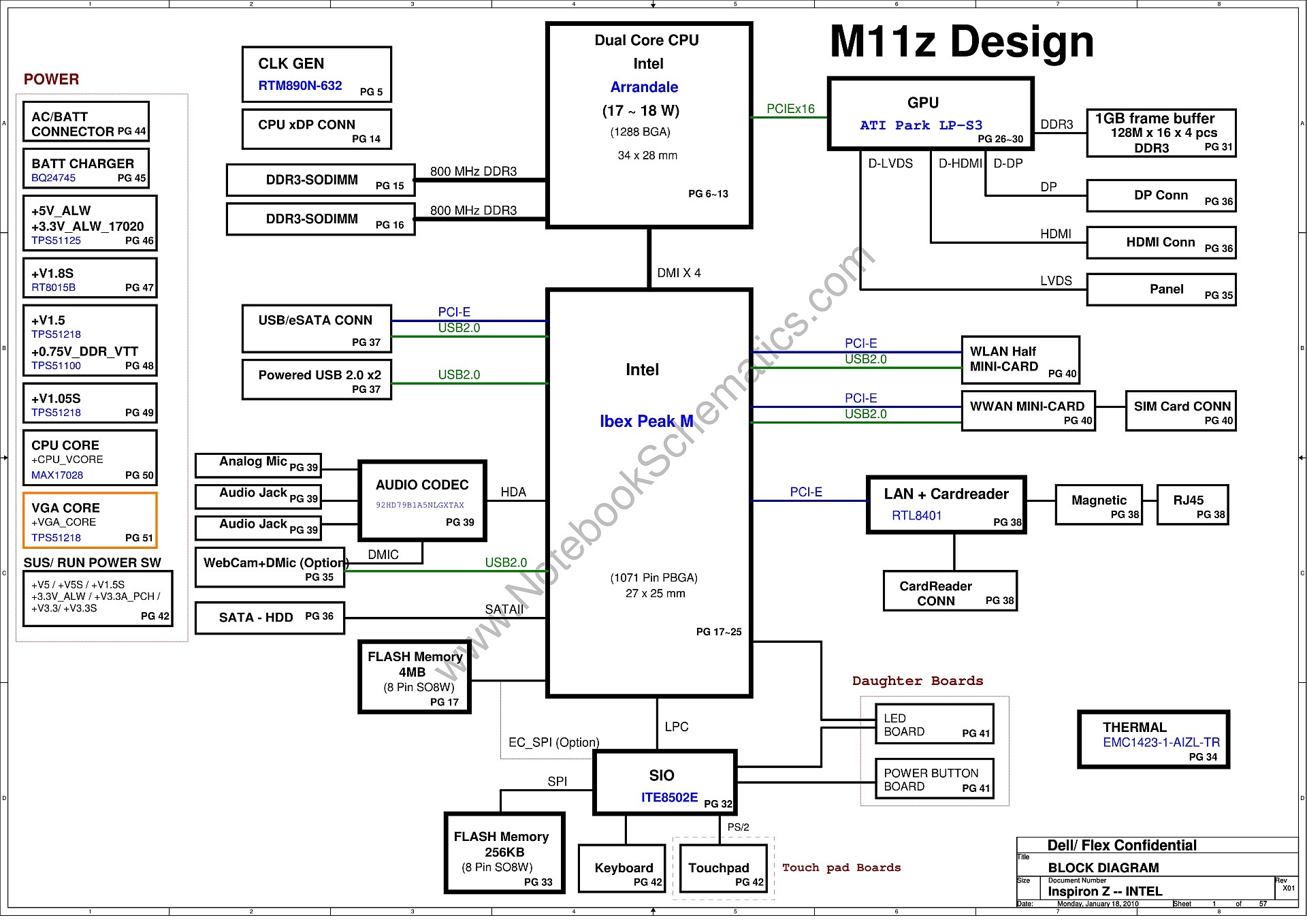 Dell Inspiron 13z N301z Schematic Inspiron Z Intel