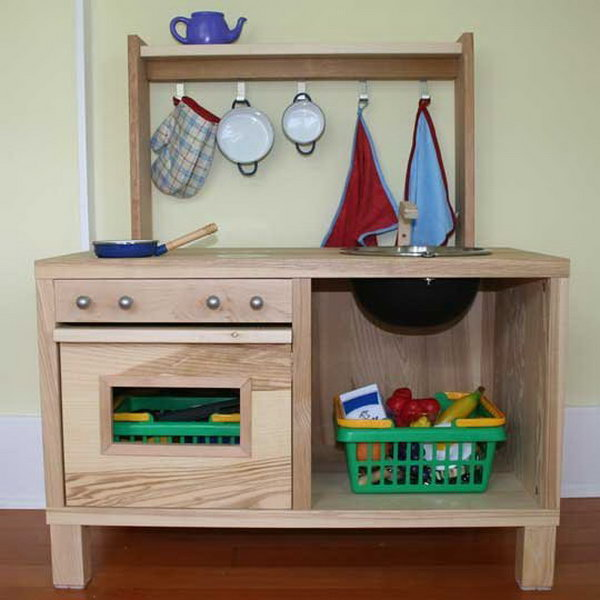 25 DIY Play Kitchen Ideas Amp Tutorials Cool Gifts For Your Kids Noted List