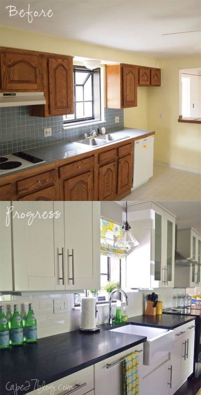 Pretty Before And After Kitchen Makeovers - Noted List