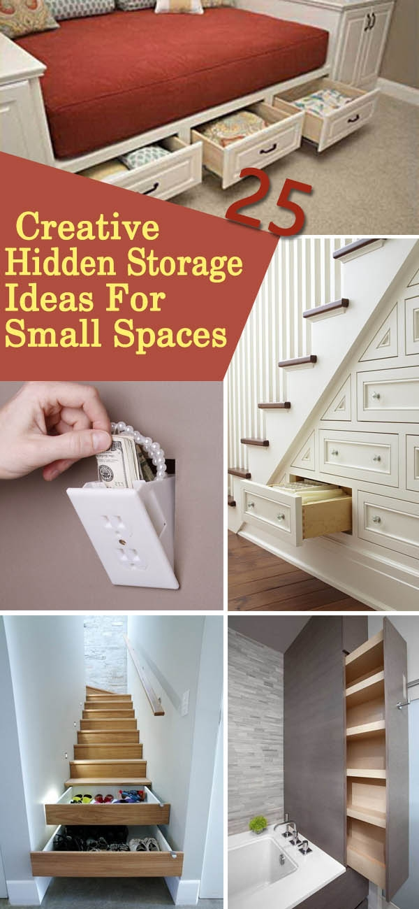 25 Creative Hidden Storage Ideas For Small Spaces Noted List   Creative Stairs For Small Spaces   Low Cost Simple   Beautiful   Tiny House   Modern   Unique