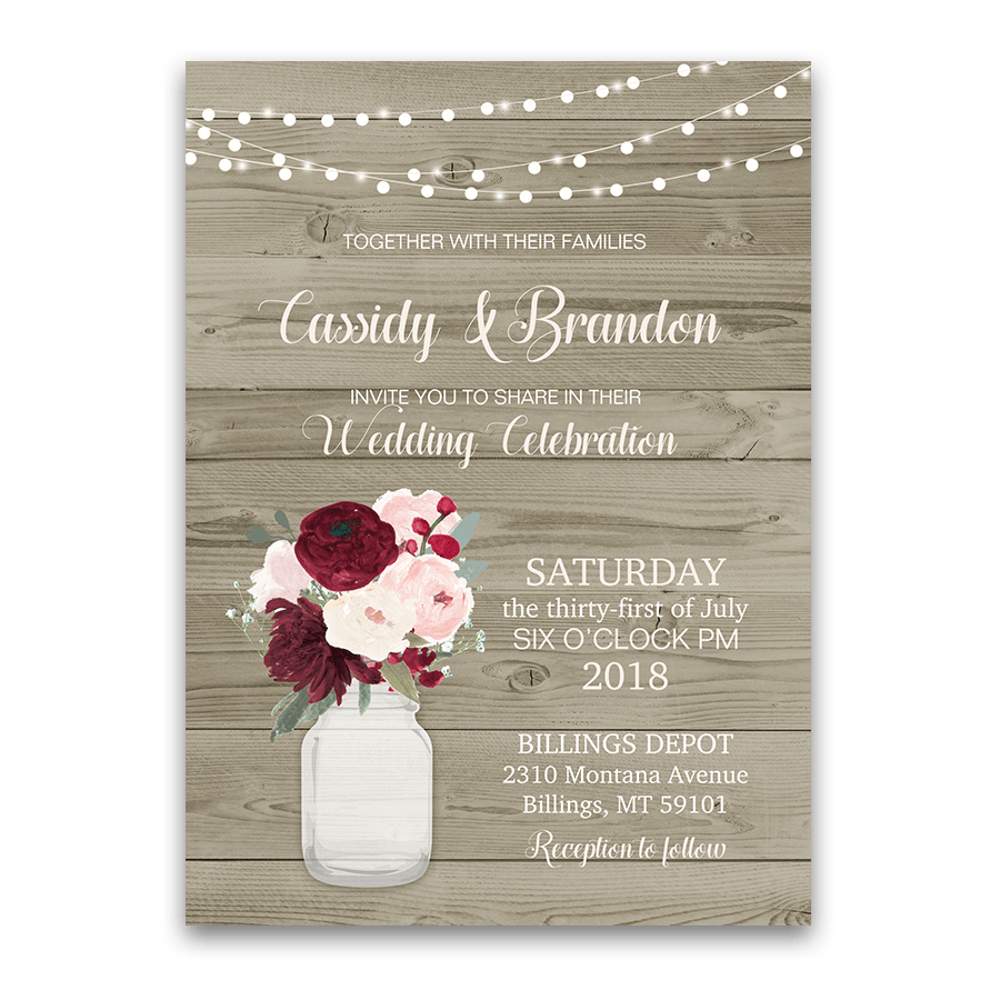 Cheap Rustic Wedding Invitation Sets