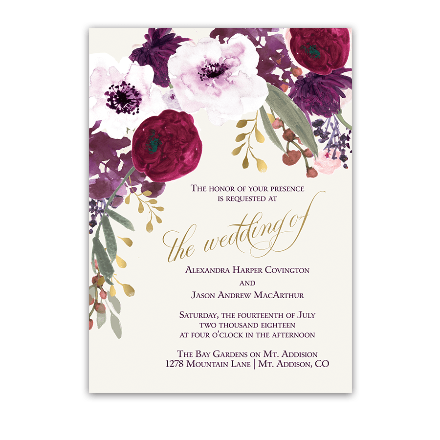 Pink Transparent Flowers Invitation