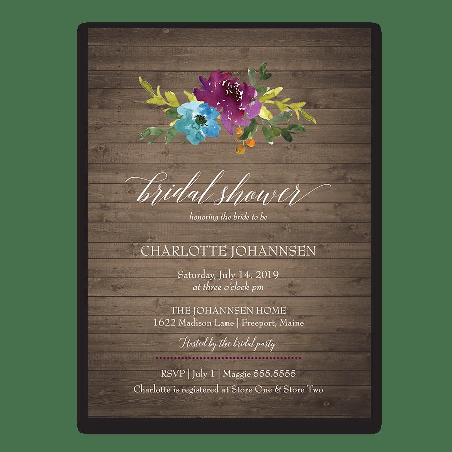 Floral Bridal Shower Invitations