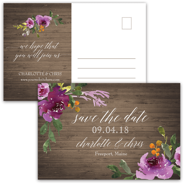 Save Date Party Postcards