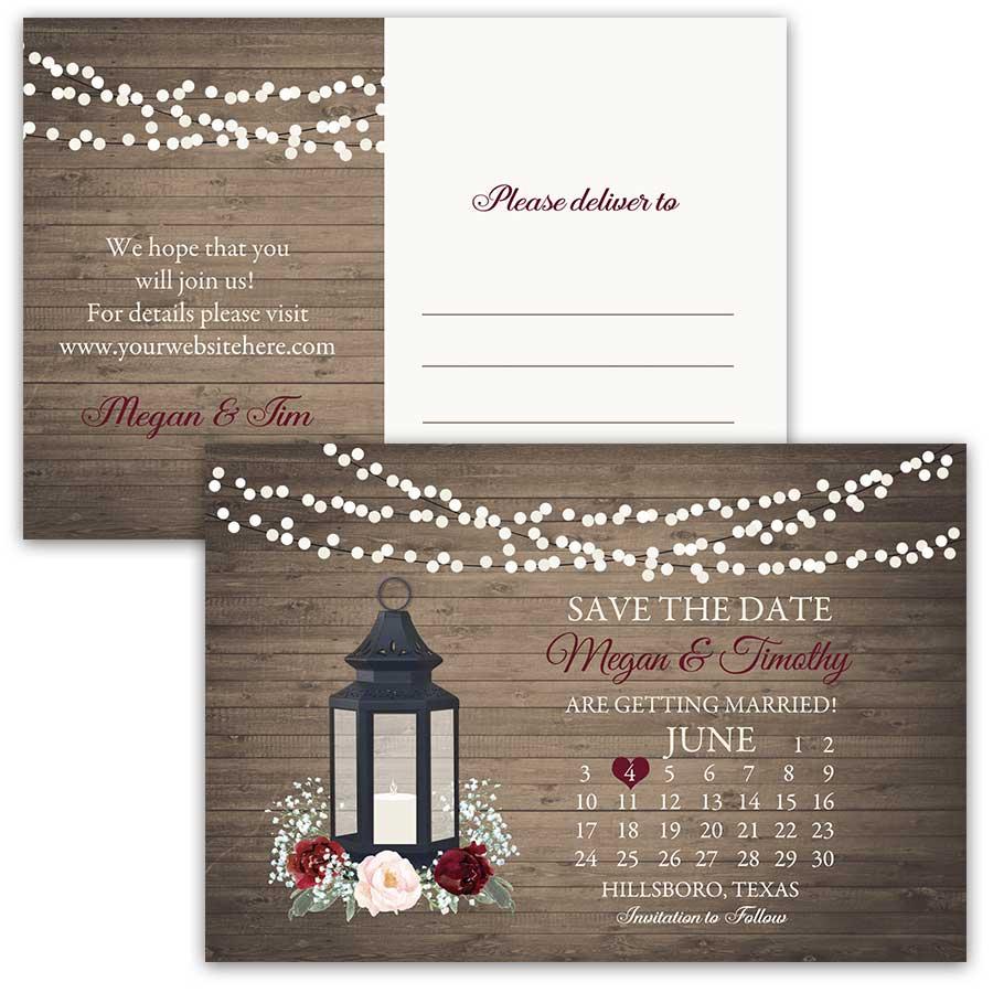 Calendar Style Save Date Cards