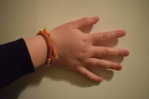 bracelet made out of straws