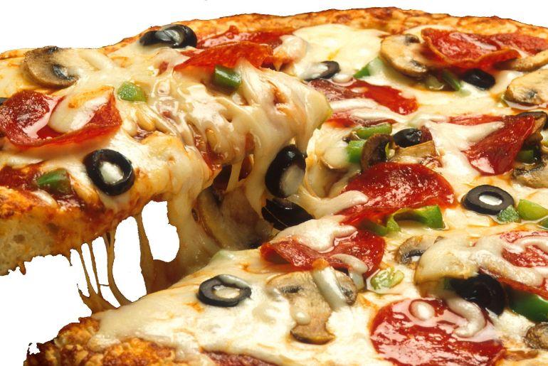 Pizza típica de Roma
