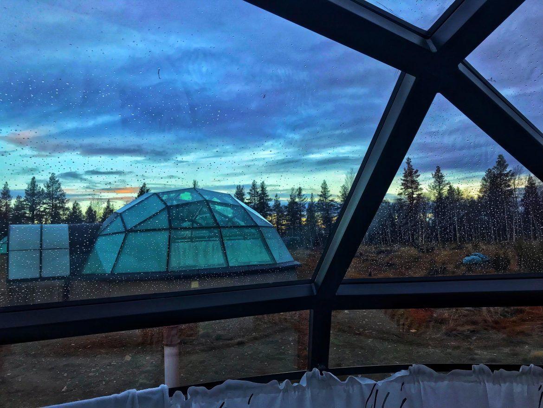 Glass igloo desde dentro