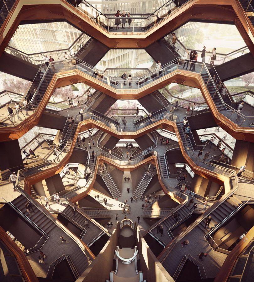 Viajar a Hudson Yards. NY Staircase