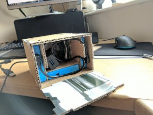 Internals are messy as can't bolt stuff to the cardboard