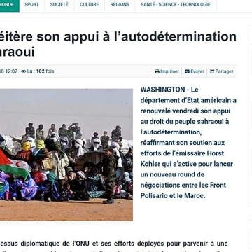 Poemario por un Sahara Libre: El Departamento de Estado USA a través de su portavoz Pablo Rodrigues reitera su apoyo al derecho de la autodeterminación del pueblo saharaui