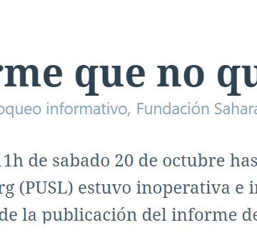 El informe que no quieren que lean   POR UN SAHARA LIBRE .org