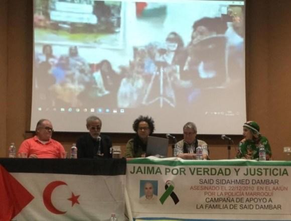 Una conexión en directo, a través de Skype, con la familia y los amigos del Mártir Said Dambar   Sahara Press Service