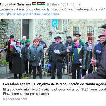 Los niños saharauis, objetivo de la recaudación de 'Santa Ageda kantak' – diariovasco