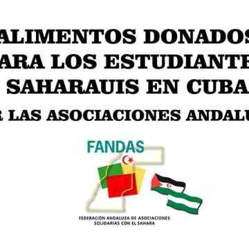 FANDAS envía ayuda humanitaria para la juventud saharaui que estudia en CUBA