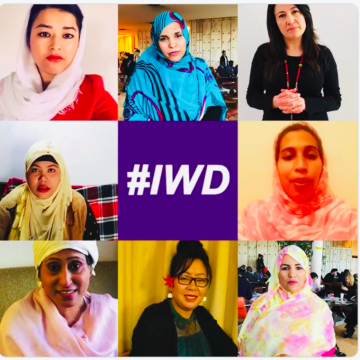 "Independent Diplomat ""There is no peace without women."" – Omeima Abdelslem from Western Sahara, because women at the negotiating table bring balance for better peace outcomes."