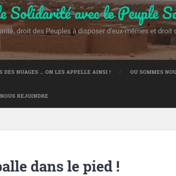 Une balle dans le pied ! – Association de Solidarité avec le Peuple Sahraoui Lorraine