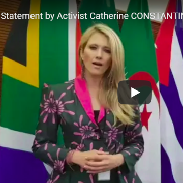 Statement by Activist Catherine CONSTANTINIDES at #SADC Solidarity Conference with Sahrawi Republic