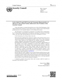Final Declaration of the African Ministerial Conference on the African Union's support to the United Nations political process on the regional dispute over the Sahara (S/2019/351) – Western Sahara | ReliefWeb
