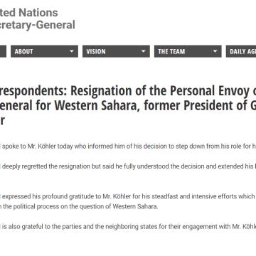 Dimite  Horst Köhler, como enviado personal del secretario general de La ONU en el Sáhara Occidental